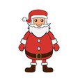 santa claus father frost vector image