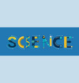 science banner typography and background vector image vector image