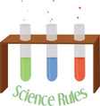 Science Rules vector image vector image