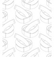seamless pattern with belts on white background vector image vector image