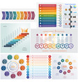 set 8 universal templates elements infographics vector image vector image