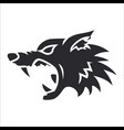 silhouette wolf head label tattoo vector image vector image