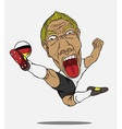 soccer player German vector image vector image