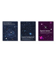 space background banner set vector image