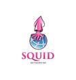 squid global network logo design vector image vector image