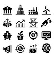 stock market investment icons vector image vector image