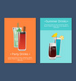 summer party alcohol drink poster with bloody mary vector image vector image