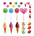 Sweets set vector image vector image