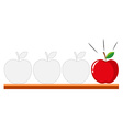 Tracing design with apples vector image