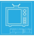 TV sign White section of icon on vector image vector image