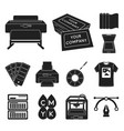 typographical products black icons in set vector image vector image