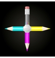 United CMYK pencils vector image vector image