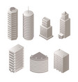 urban buildings isometric set vector image