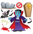 vampire theme collection vector image