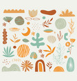 variety spring elements set vector image vector image