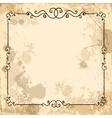 Vintage design elements on old paper sheet vector image
