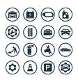 auto icons universal set vector image