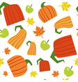 pumpkin seamless pattern background autumn harvest vector image
