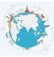 The concept of traveling around the world vector image