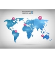 Abstract creative concept map of the world vector image vector image