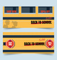 back to school bus part banners vector image vector image