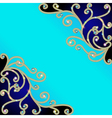 background with gold pattern vector image vector image