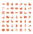 bath icons vector image vector image