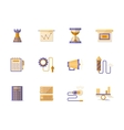 Business planning flat color icons vector image vector image