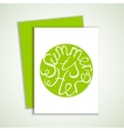 Card with green summer lettering element vector image vector image