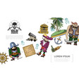 cartoon pirates concept vector image vector image