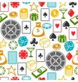 Casino gambling seamless pattern with game objects vector image vector image
