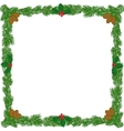 Christmas wreath frame vector image