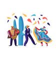 cinco de mayo festival mexican artists band man vector image vector image