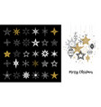 collection of snowflakes stars christmas vector image