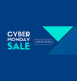 cyber monday sale shop now banner vector image vector image