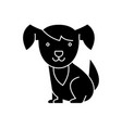 dog cute icon black sign on vector image vector image