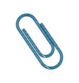 drawing blue clip metal office supply object vector image vector image