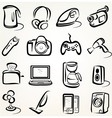 electric goods icons vector image vector image