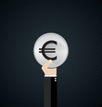 EUR currency symbol vector image vector image