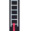 Filmstrip ladder vector image vector image