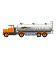 fish transport tank vector image