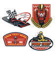 formula car badge vector image vector image