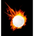 golf fire ball vector image vector image