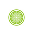 green lemon slices logo design inspiration vector image vector image