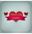 Greeting card Happy Valentines Day in the old vector image