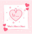 heart tag valentine card love text icon vector image vector image