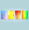 hologram bright colorful background set vector image vector image