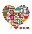i like cooking vector image