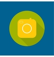 Icon of the old camera vector image