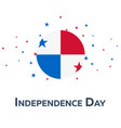 independence day of panama patriotic banner vector image